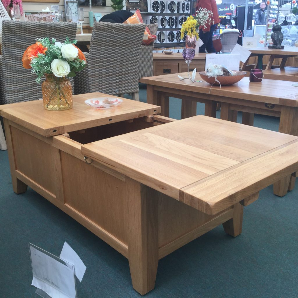 Coffee Table Storage Bench With Sliding Top