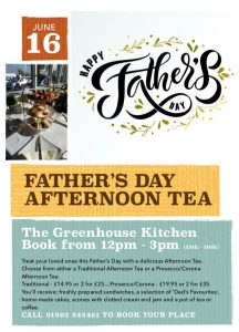 Fathers Day Afternoon Tea @ The Greenhouse Kitchen