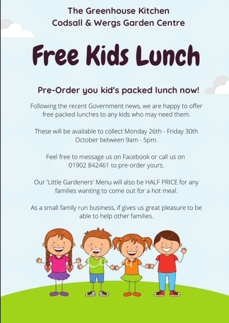 Free Kids Packed Lunches This Half Term